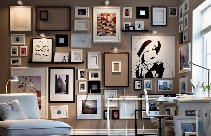 نصب تابلوها و قاب عکس ها در خانه