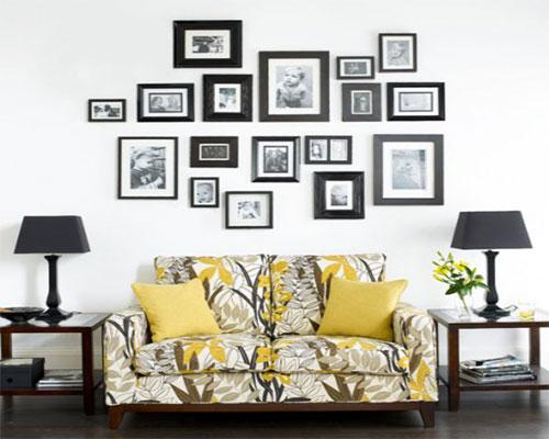 روش عالی برای چیدن قاب عکس روی دیوار