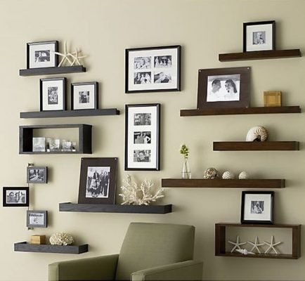 خرید انواع شلف چوبی دیواری
