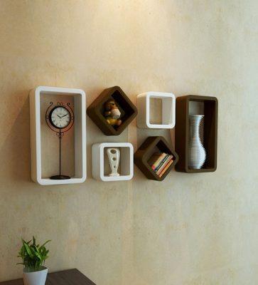 طراحی دیوار با شلف و داشتن دیزاین منزل منحصر به فرد