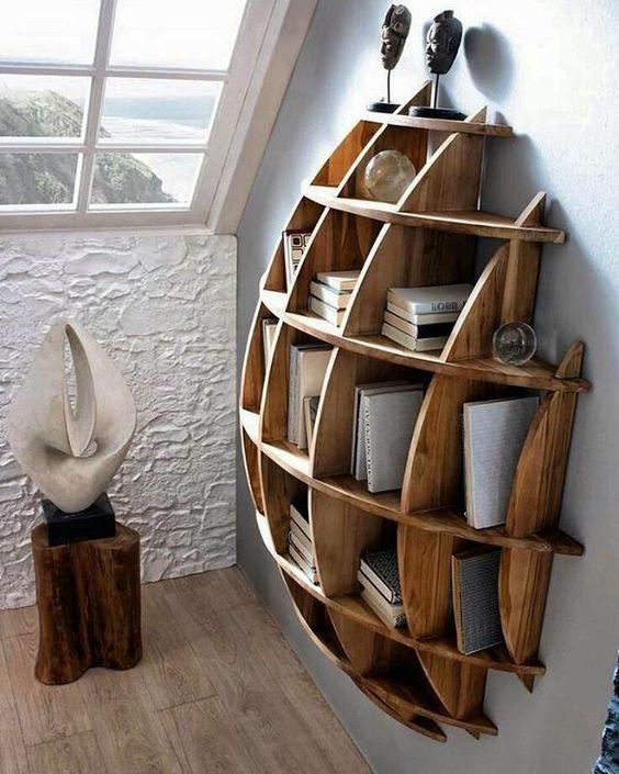 نمونه شلف های شیک چوبی