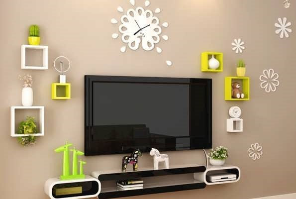 انواع شلف دیواری تلویزیون