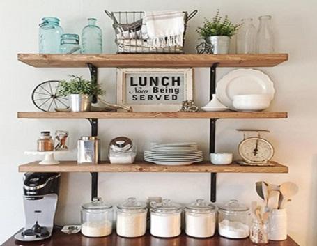 تصویر شلف دیواری آشپزخانه